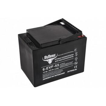 Тяговый гелевый аккумулятор RuTrike 6-EVF-55 (12V55A/H C3)