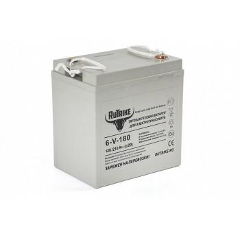 Тяговый гелевый аккумулятор RuTrike 3-EVF-180 (6V180A/H C3)