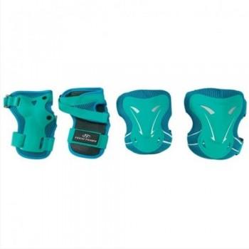 Набор защиты Tech Team Safety line 400, цвет бирюзовый (размеры S, M, L)